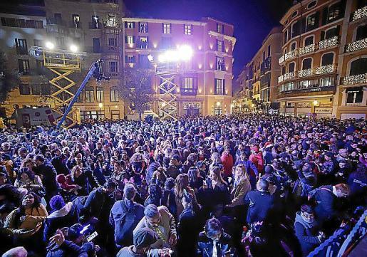 La plaza de Cort se iluminará en las próximas navidades.