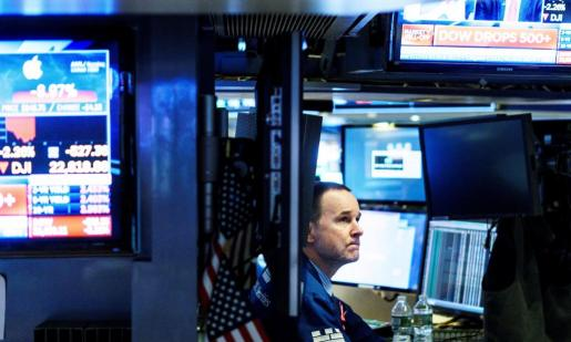 Agentes de Bolsa en el parqué de Nueva York.