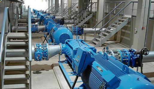 Estación de bombeo del agua de sa Costera, en el Port de Sóller.