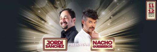 Jordi Sánchez y Nacho Guerreros presentan 'La noche es comedia' en el Auditórium de Palma.