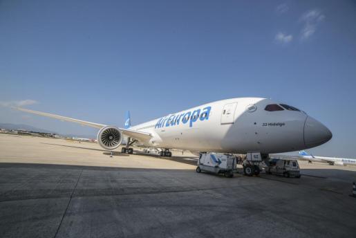 Presentación de uno de los nuevos aviones de Air Europa.