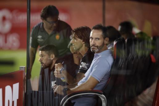Vicente Moreno, durante un partido del Real Mallorca.