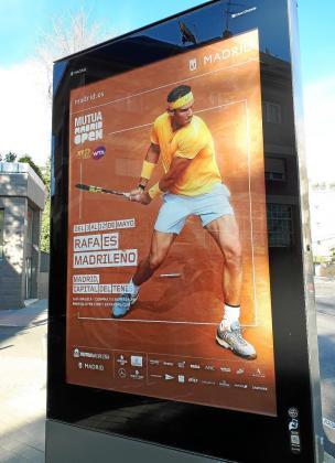 Imagen de la campaña publicitaria del Mutua Madrid Open.