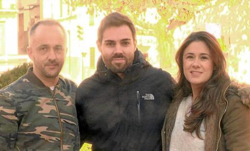 Javier Fábrega (policía) junto a Antonio Sánchez y Eva Cirre.