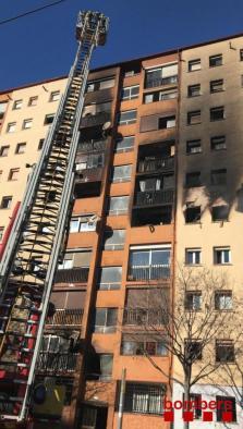 Incendio en una vivienda de Badalona