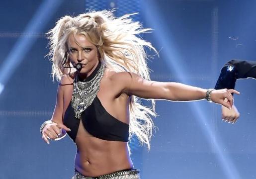Britney Spears durante un concierto en Londres.