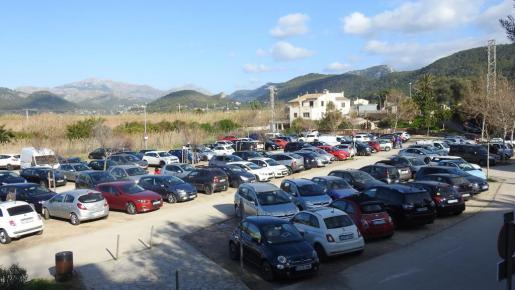 El aparcamiento de Es Saluet, en el Port d'Andratx, donde ocurrió el robo.