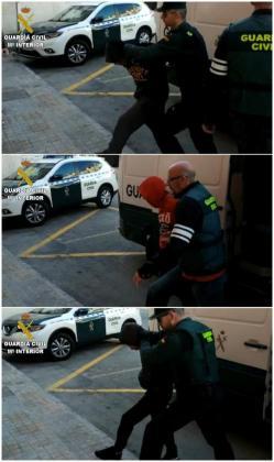 Imágenes facilitadas por la Guardia Civil de tres los cuatro jóvenes de 19, 21, 22 y 24 años detenidos como presuntos autores de una agresión sexual a una joven de 19 años, supuestamente bajo los efectos del alcohol y las drogas, la pasada Nochevieja en Callosa d'En Sarrià (Alicante) que están en prisión provisional.