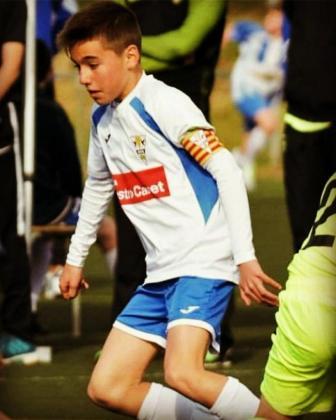 Imagen del infantil Álex Parera durante un partido con el Granollers.