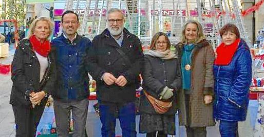 Toya de la Vega, Pedro Miró, Lluís Bauçà, Lourdes Terrasa, Malena Grúa y Esperanza Oliver.