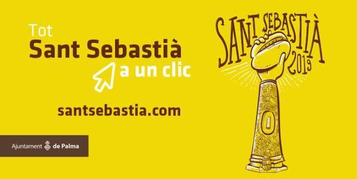 Cartel de las apilcaciones sobre las fiestas de Sant Sebastià.