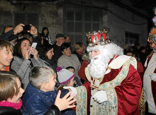 La llegada de los Reyes Magos a Manacor, en la tarde del sábado pasado.