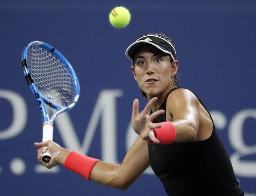 La tenista española Garbiñe Muguruza, en un reciente partido.