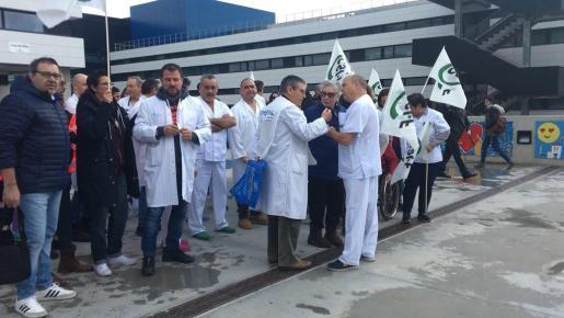Protesta contra el decreto del catalán en la sanidad pública balear.