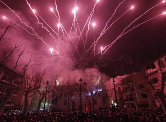 Sant Antoni en Sa Pobla: Dimonis y foguerons encienden la fiesta