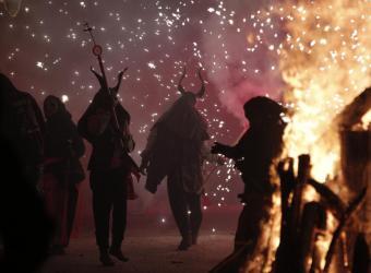 Sant Antoni en Muro: el fuego y la música son los protagonistas
