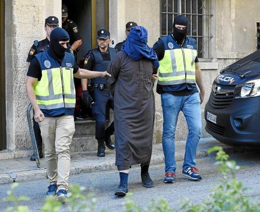 Uno de los detenidos en la operación policial llevada a cabo en Inca en verano de 2017.