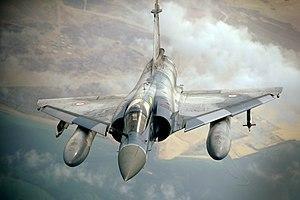 Imagen de archivo de un Mirage 2000-5F del Ejército del Aire Francés.