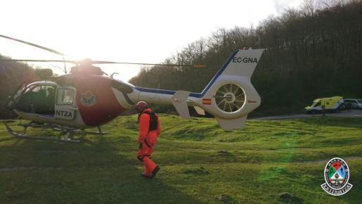 Imagen de archivo de los equipos de rescate de la Ertzaintza.