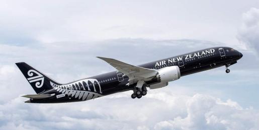 Avión de la compañía Air New Zealand.