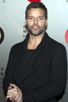 El cantante puertoriqueño Ricky Martin.
