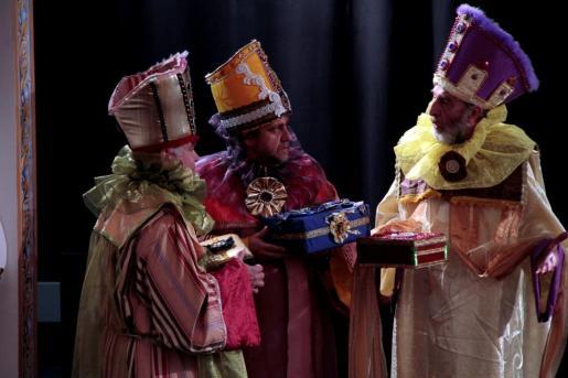 Un detalle de los ensayos de la obra 'L'Adoració dels Tres Reis d'Orient'.