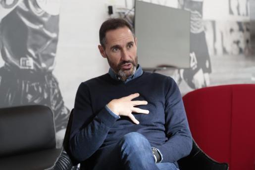 Vicente Moreno, entrenador del Real Mallorca.