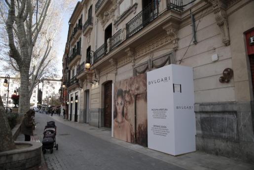 Imagen de las obras de la nueva tienda Bulgari en Palma.