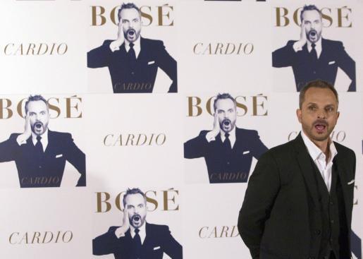 Miguel Bosé, durante la presentación de su nuevo álbum.
