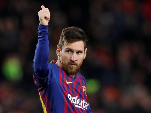 Leo Messi anotó ante el Sevilla su gol 400 en Primera.