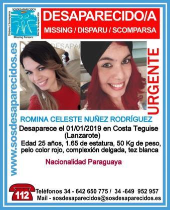 Romina Celeste Núñez Rodríguez, desaparecida en Lanzarote.