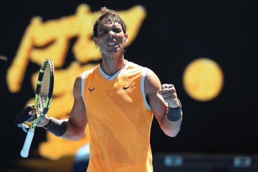 Rafael Nadal, tras su victoria.