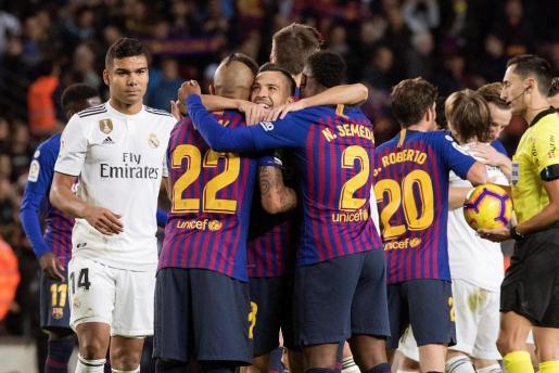 Imagen del partido entre el FC Barcelona y el Real Madrid del pasado mes de octubre.