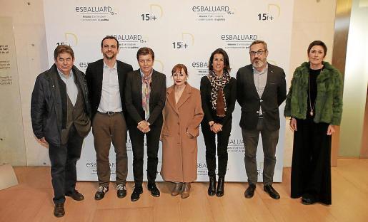 Antoni Sansó, Llorenç Carrió, Carmen Serra, Nekane Aramburu, Joana Català, Rafel M. Creus y Francisca Niell, este martes en el Museu Es Baluard.