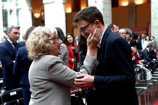 La alcaldesa de Madrid, Manuela Carmena, y el diputado de Podemos Iñigo Errejón, en una imagen de archivo.