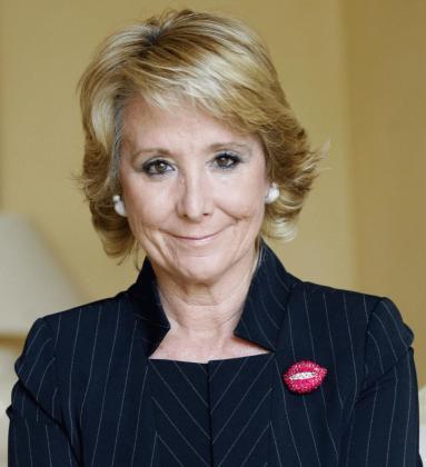 En este momento la expresidenta de Madrid está grabando el programa que se emitirá en las próximas semanas.