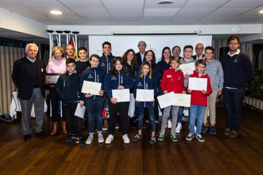 Imagen de los distinguidos en la Gala del Deporte del Club de Mar Mallorca.