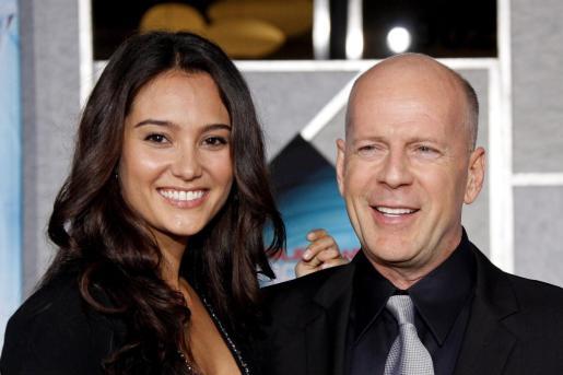 Foto de archivo del actor estadounidense Bruce Willis y su mujer Emma Heming.