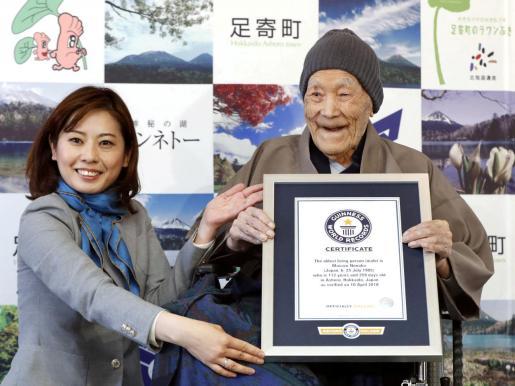 Muere el japonés Masazo Nonaka, el hombre más viejo del mundo con 113 años.