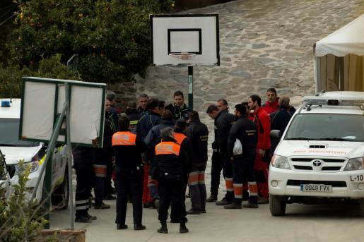 La Brigada de Salvamento Minero de Hunosa llega al puesto de mando donde se continúan los trabajos de rescate de Julen.