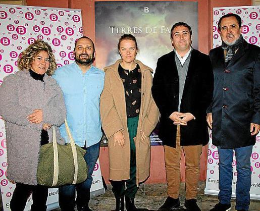 Teresa Reynés, Marcos Cabotá, Elizabeth Moll, Pau Crespí y Joan Frontera.