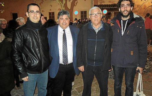 Jordi Vanrell, Biel Ferragut, Bartomeu Mir y Antoni Simó.