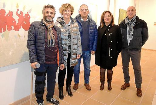 Manel Santana, Xisca Mora, Tomeu Garí, Xisca Tur y Gaspar Mora.