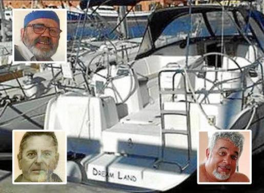 El velero desaparecido y sus tres tripulantes.
