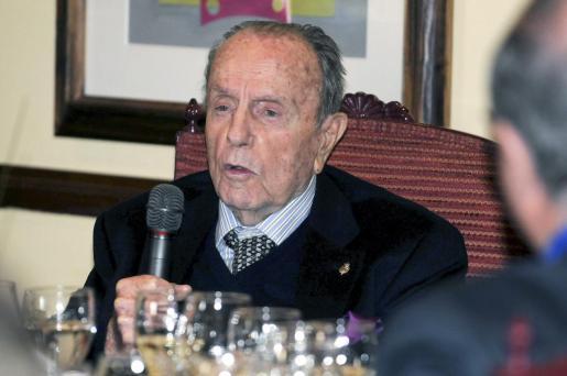 El presidente de honor del Partido Popular, Manuel Fraga Iribarne.