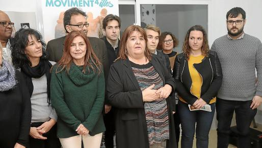 Xelo Huertas presentó el jueves su proyecto. Todavía queda por concretar qué hará Crida per Palma, crítica con la política turística y territorial. Quedan cuatro meses para las elecciones.