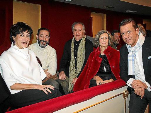 Neus Cortés, Juan Cañellas, Lluís Fuster, Dolores Martínez Echevarría y Jaime Colomar.