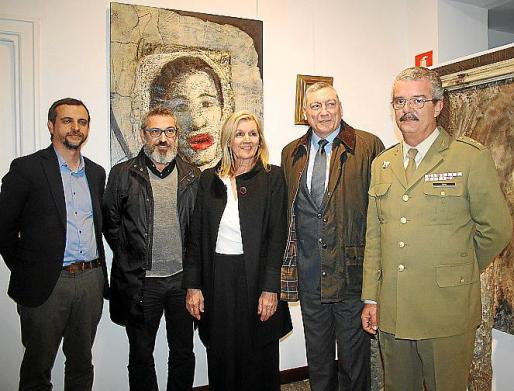 Llorenç Carrió, Rafel Creus, Miquela Vidal, Juan Cifuentes y Teodoro Pou.