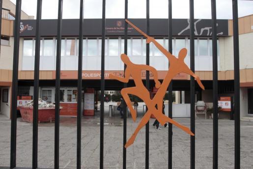 Imagen de la fachada del polideportivo Príncipes de España, sede de la Fundació per a l'Esport Balear.