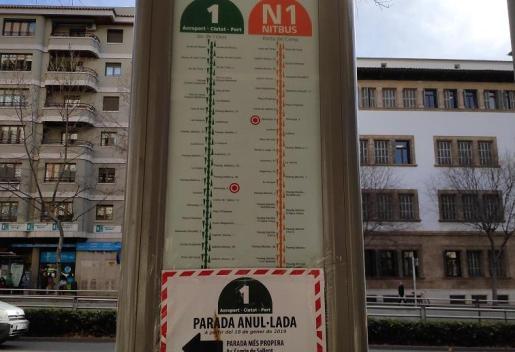 Eliminacion de la parada del Bus número 1